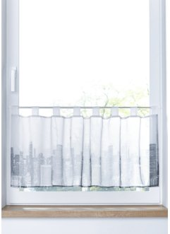 Transparente Scheibengardine mit Digital Druck, bpc living bonprix collection
