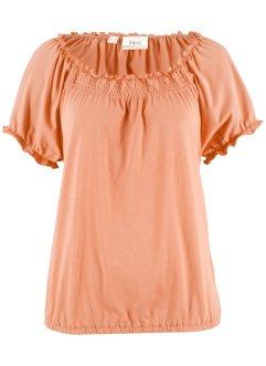 Kurzarm Shirt mit Gummizug, bpc bonprix collection