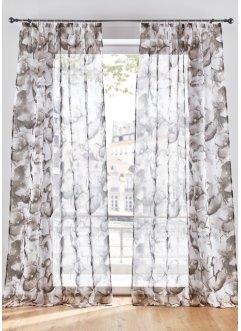 Transparente Gardine mit floralem Druck (1er Pack), bpc living bonprix collection