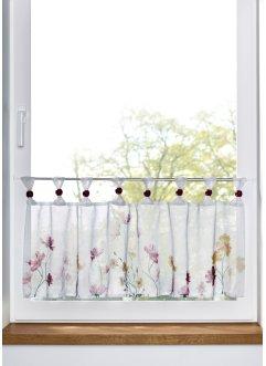 Scheibengardine mit Blumen Druck, bpc living bonprix collection