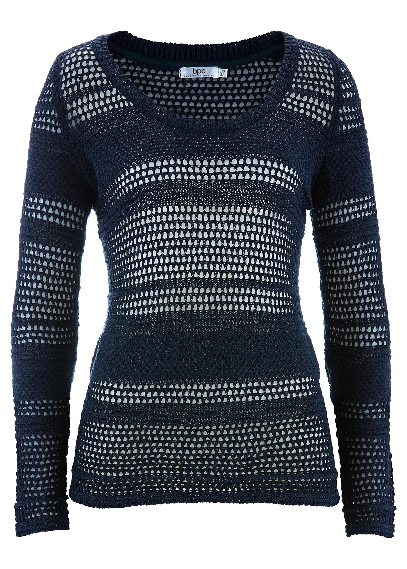 bpc bonprix collection Pullover, Langarm in blau für Damen von bonprix Damenmode > Damenbekleidung > Damenpullover > Damen Pullover Rundhals