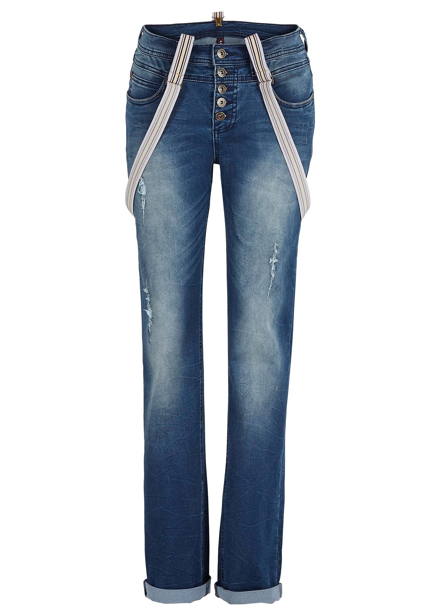 Jeans mit Hosenträgern in blau für Damen von bonprix Damenmode > Damenbekleidung > Jeans > lange Jeans