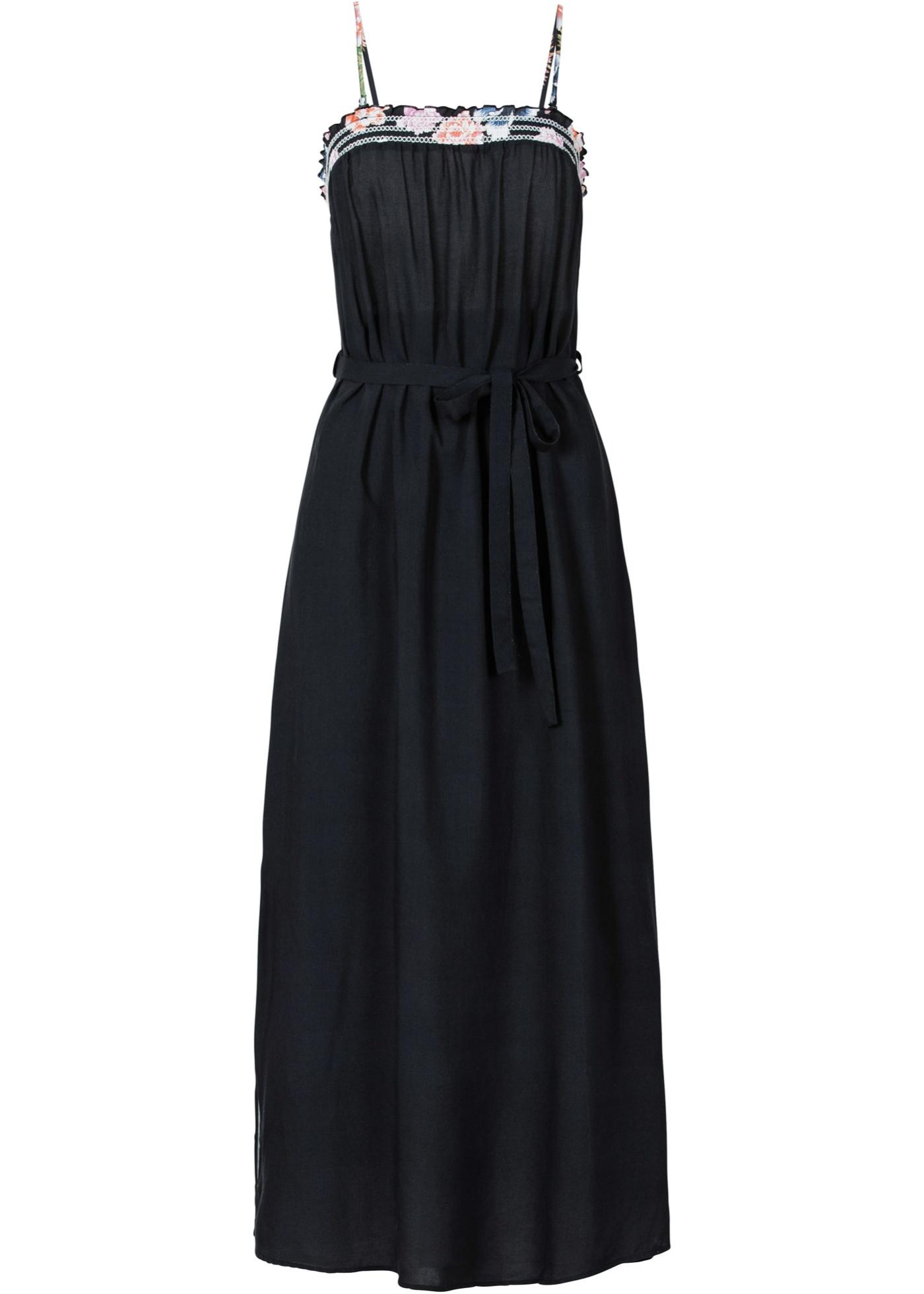 Kleid ohne Ärmel  in schwarz (Rundhals) von bonprix