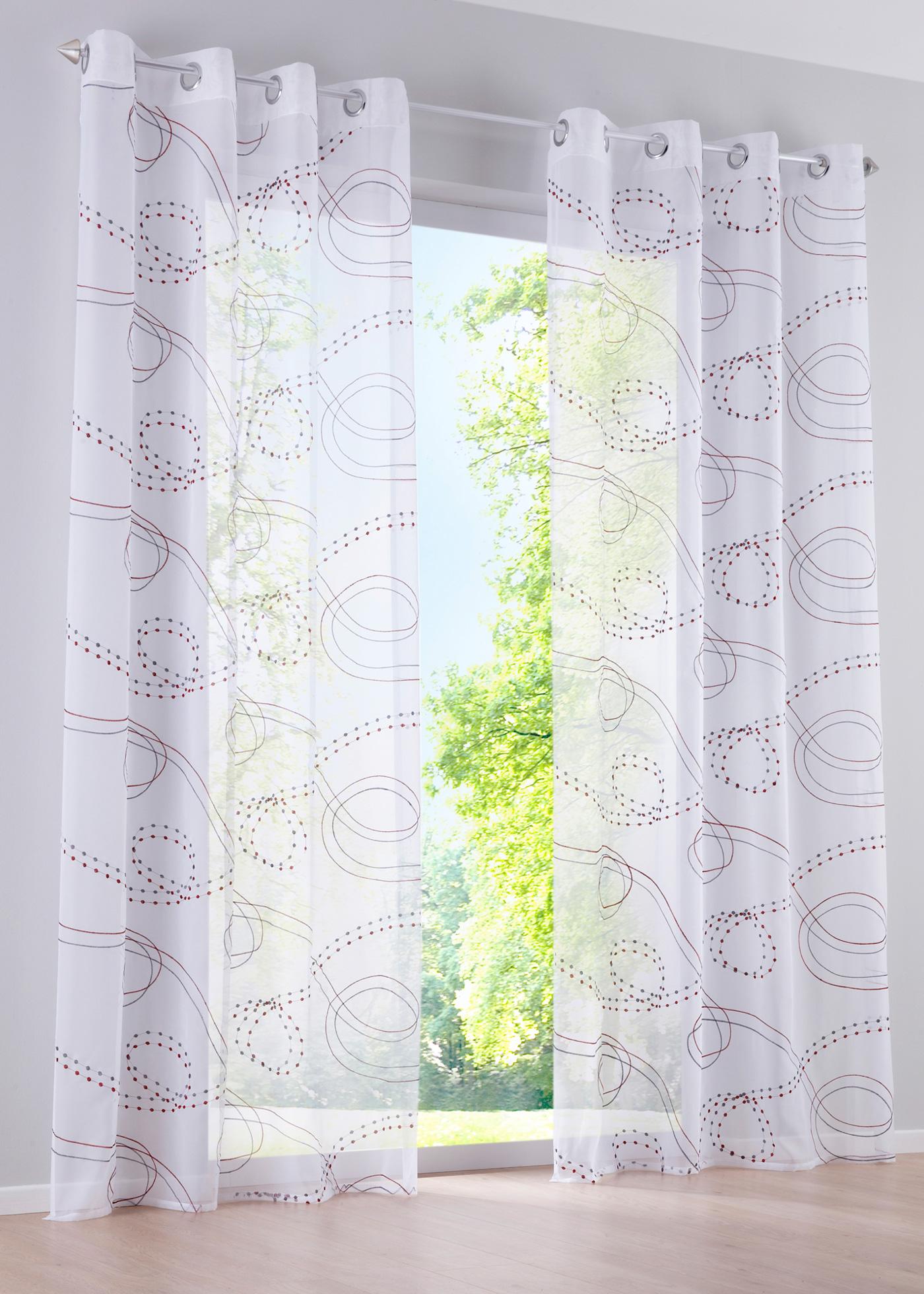gardine amy sen in rot von bonprix wohnen heimtextilien gardinen stangen gardinen. Black Bedroom Furniture Sets. Home Design Ideas