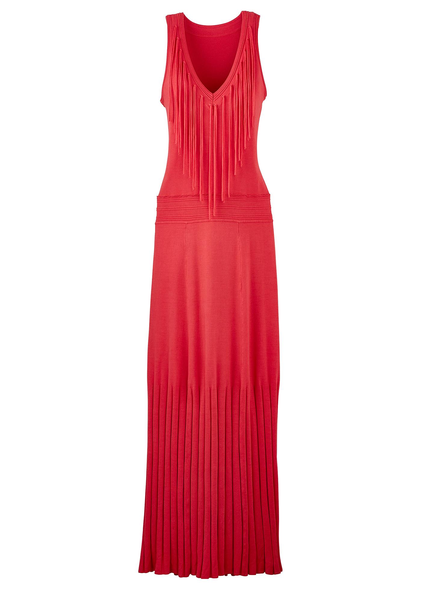 Kleid ohne Ärmel  in rot von bonprix Damenmode > Damenbekleidung > Kleider > Trägerkleider lang