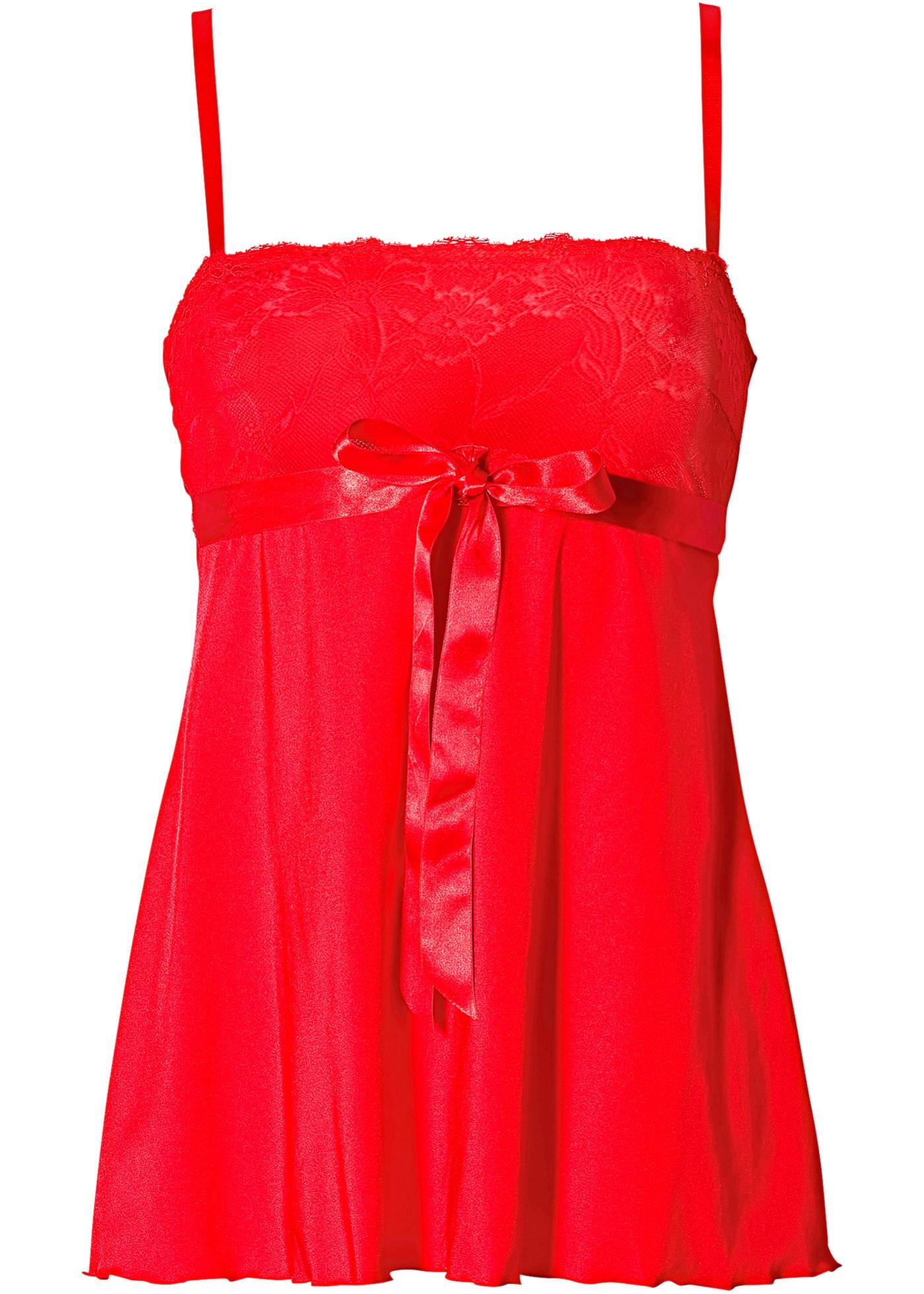 Bodyflirt Babydoll in rot für Damen von bonprix