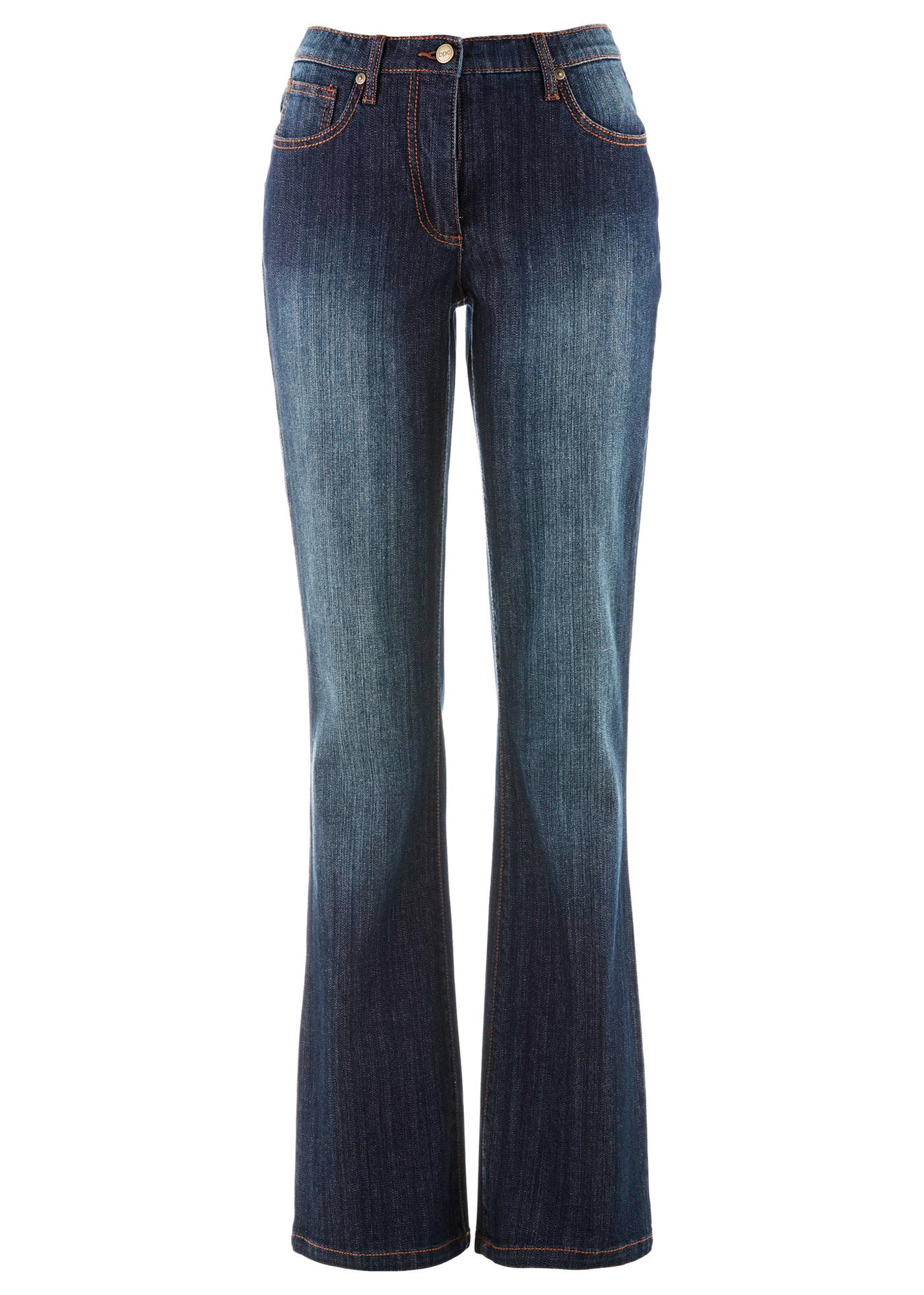 bpc bonprix collection Stretchjeans, Bootcut, weite Hüfte in blau für Damen von bonprix Damenmode > Damenbekleidung > Jeans > lange Jeans