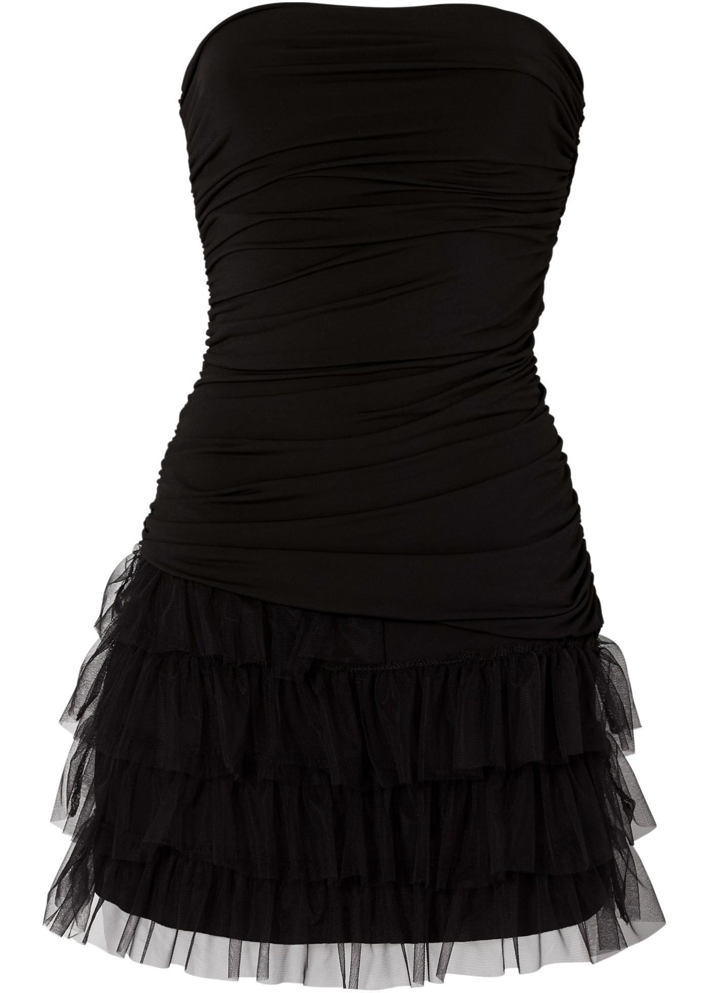 Shirtkleid ohne Ärmel  in schwarz von bonprix Damenmode > Damenbekleidung > Kleider > Bandeau