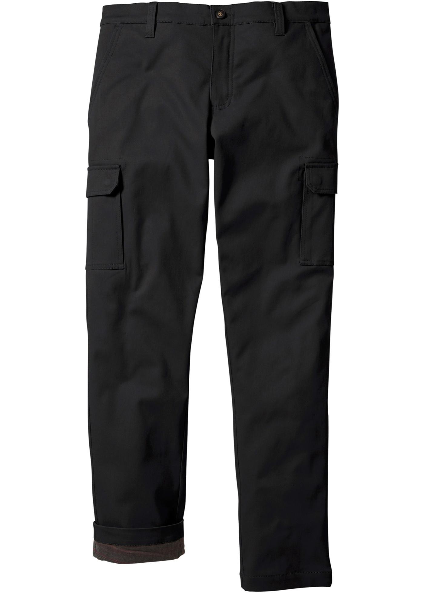 bpc bonprix collection Thermo-Cargohose in schwarz für Herren von bonprix Herrenmode Herrenbekleidung Lange Herrenhosen