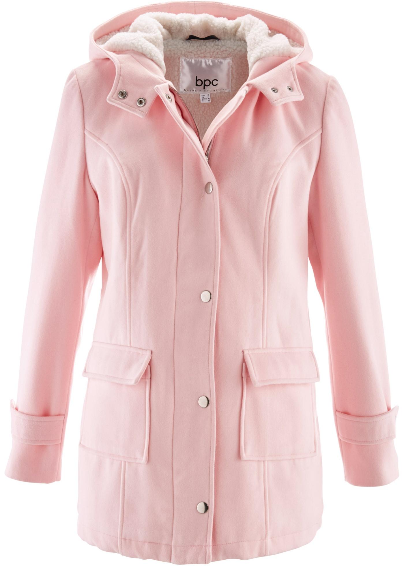 bpc bonprix collection Jacke mit Teddyfutter langarm  in rosa für Damen von bonprix