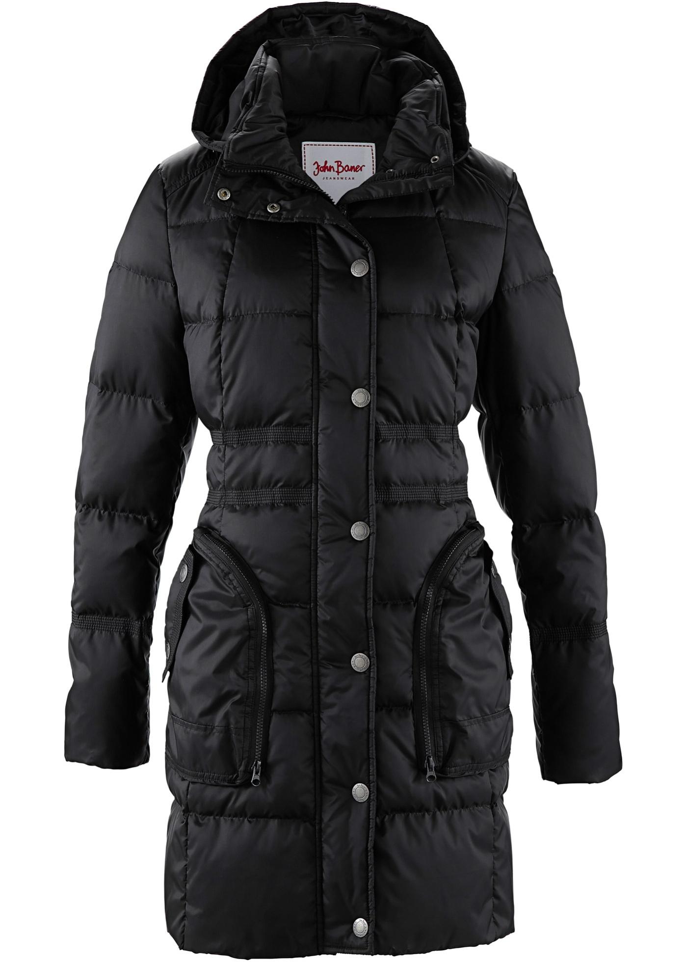 John Baner JEANSWEAR Daunenmantel langarm  in schwarz für Damen von bonprix Damenmode > Damenbekleidung > Damen Jacken & Mäntel > Mäntel