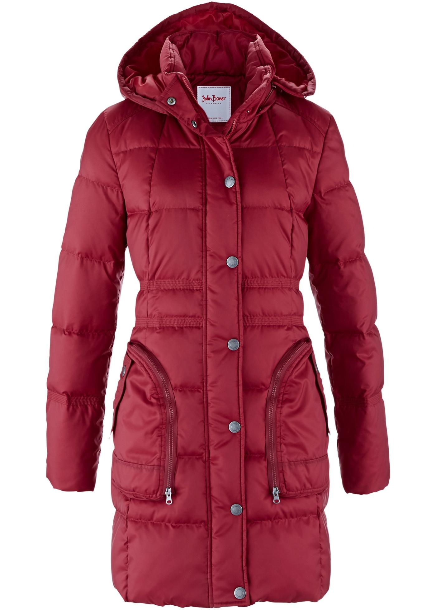 John Baner JEANSWEAR Daunenmantel langarm  in rot für Damen von bonprix Damenmode > Damenbekleidung > Damen Jacken & Mäntel > Mäntel