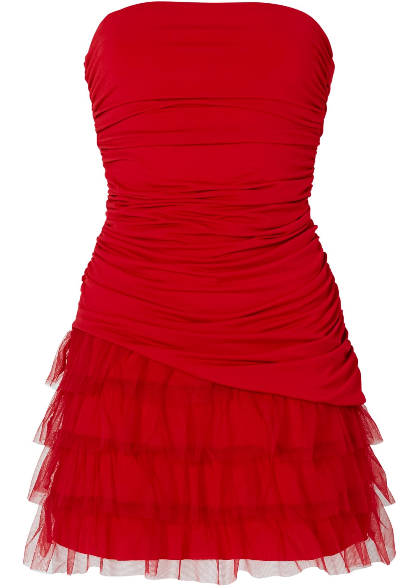 Shirtkleid ohne Ärmel  in rot von bonprix Damenmode > Damenbekleidung > Kleider > Bandeau