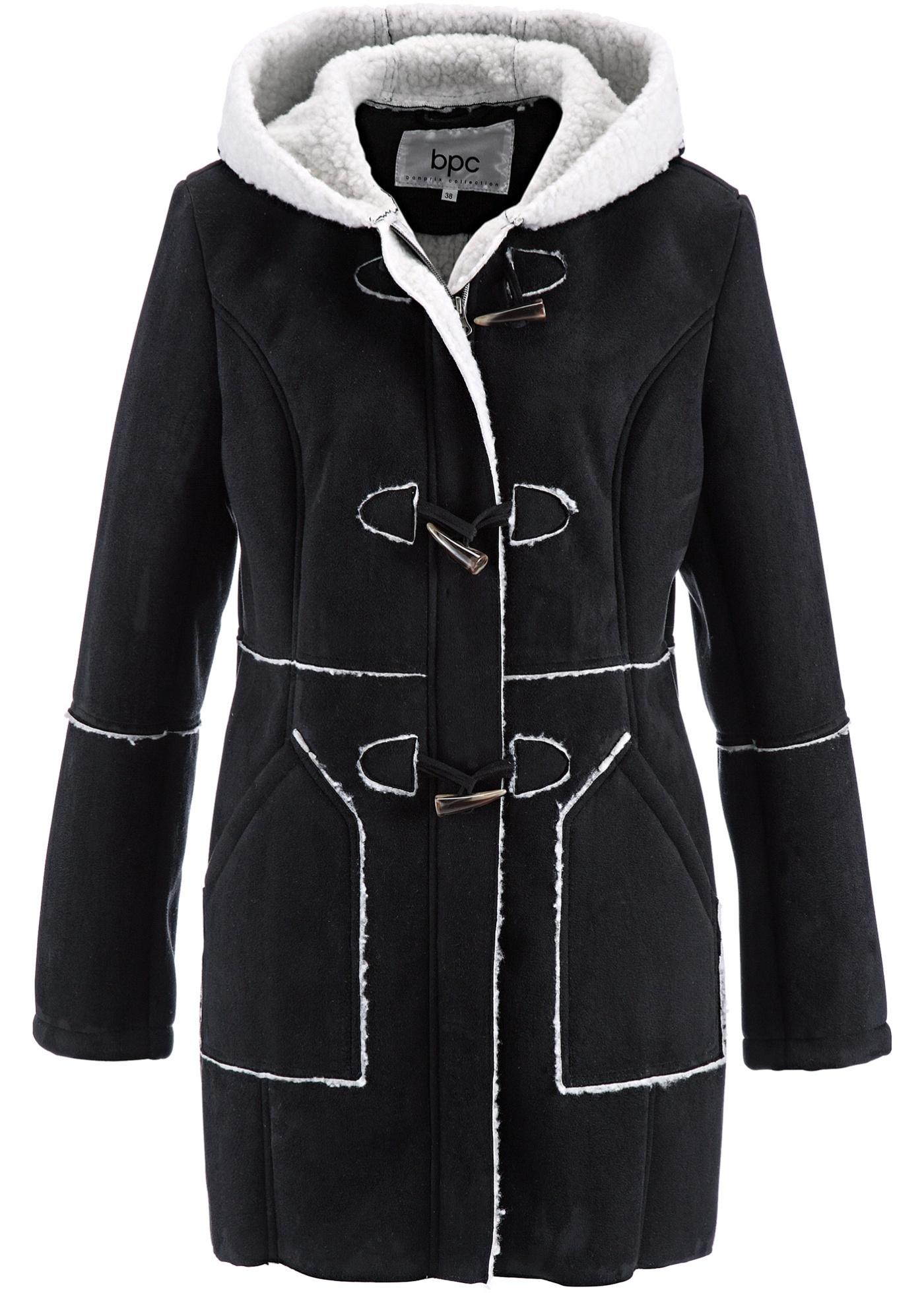 bpc bonprix collection Duffle-Coat langarm  in schwarz für Damen von bonprix