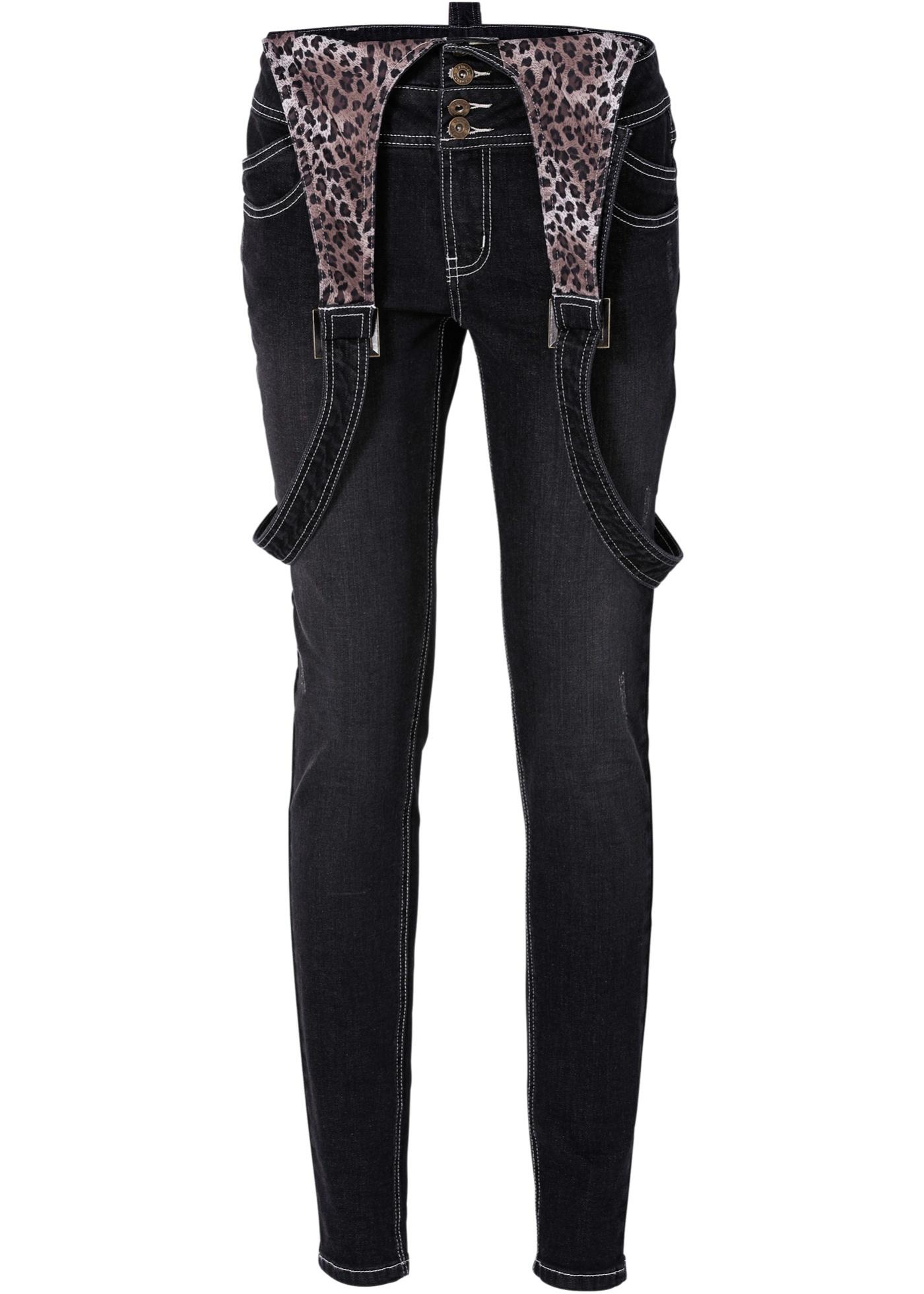 Jeans sehr figurbetont  in schwarz für Damen von bonprix
