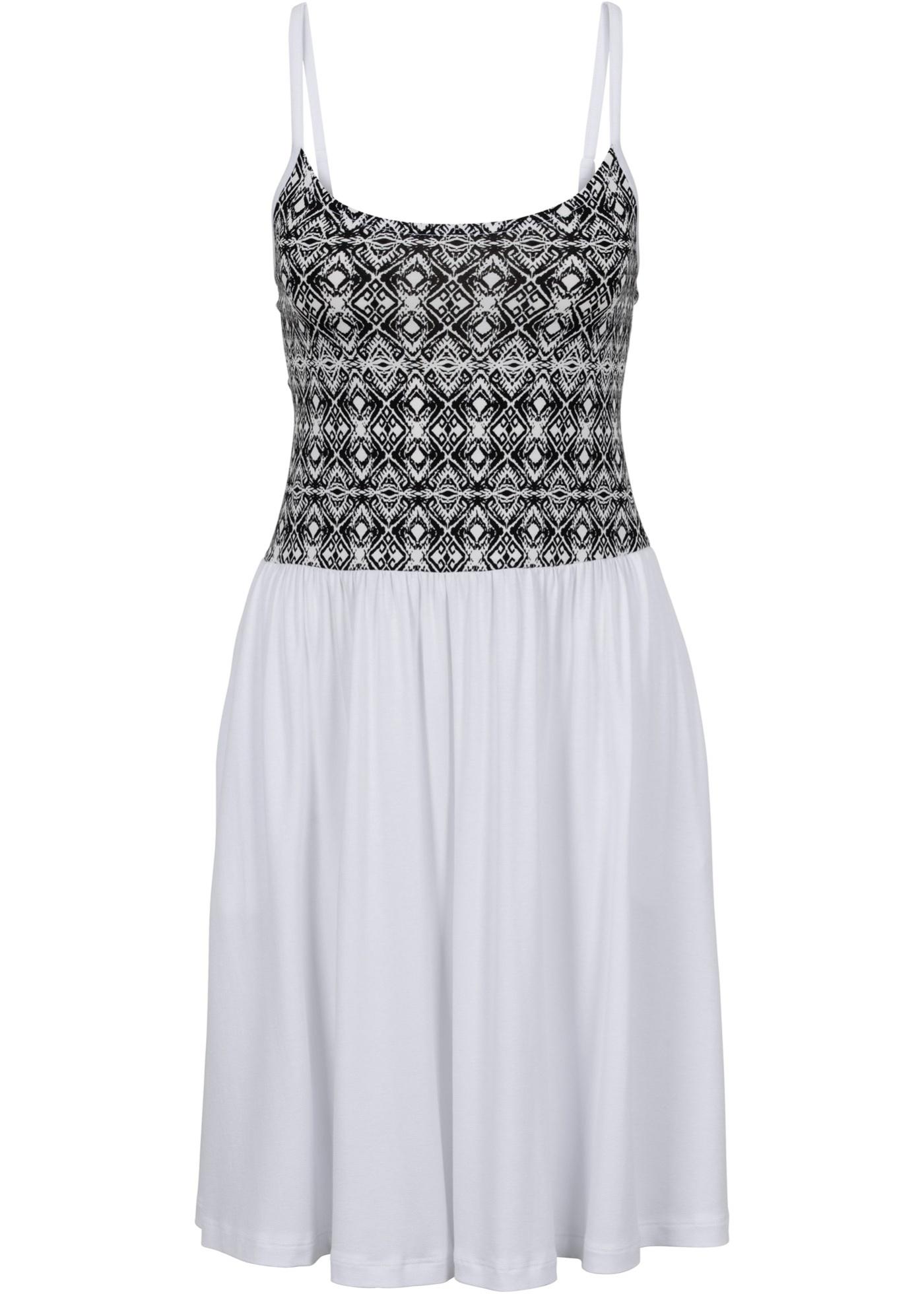 Rainbow Kleid ohne Ärmel  in weiß von bonprix