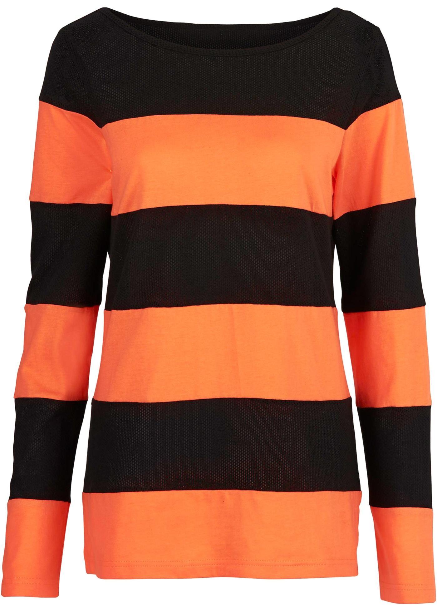 Shirt in orange für Damen von bonprix Damenmode > Damenbekleidung > Damen T-Shirts > Langarmshirts Rundhals