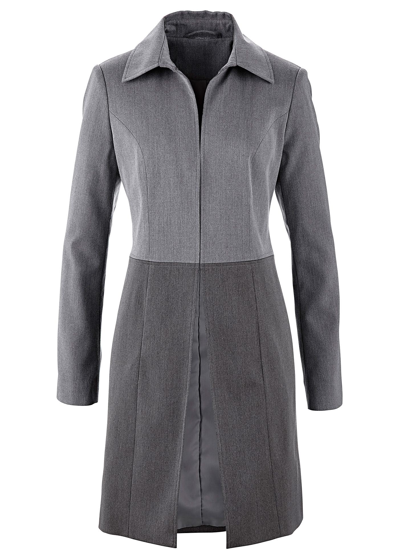 Casaco - blazer cinza manga longa