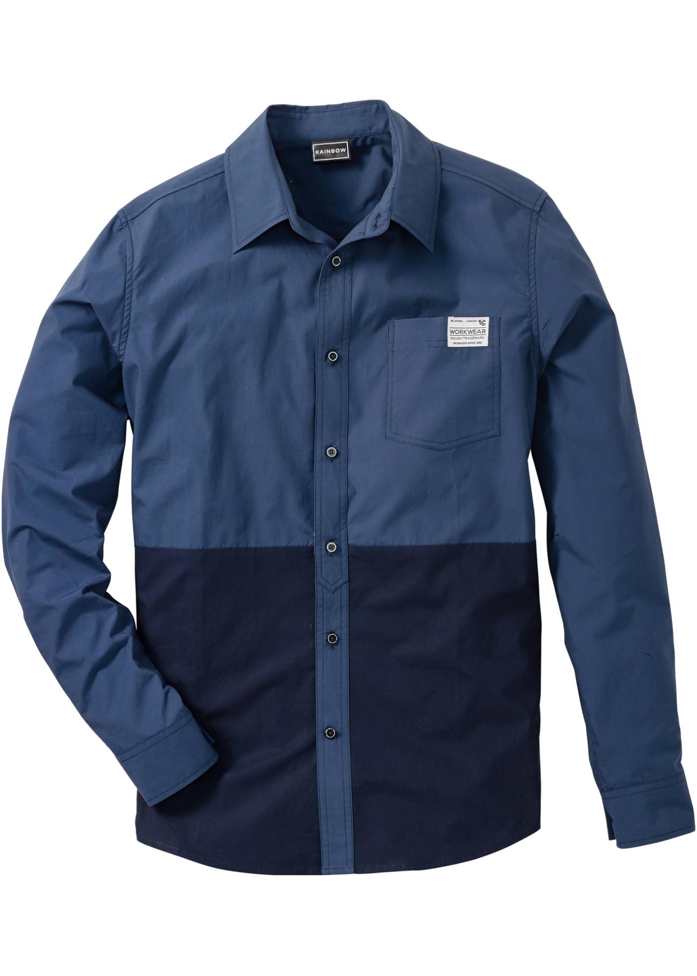 RAINBOW Langarmhemd in blau für Herren von bonprix Herrenmode Herrenbekleidung Herren Hemden Herren Hemd Langarm