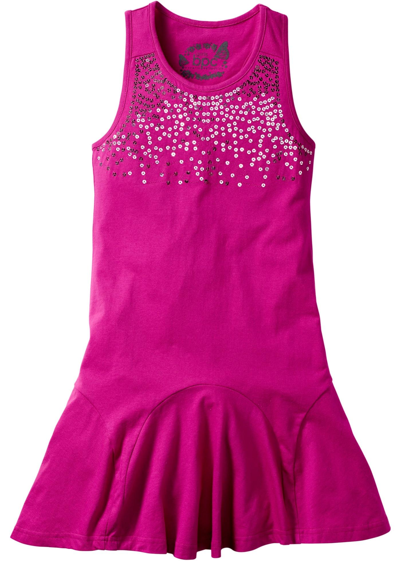 bpc bonprix collection Kleid mit Pailletten, Normal ohne Ärmel  in pink von bonprix