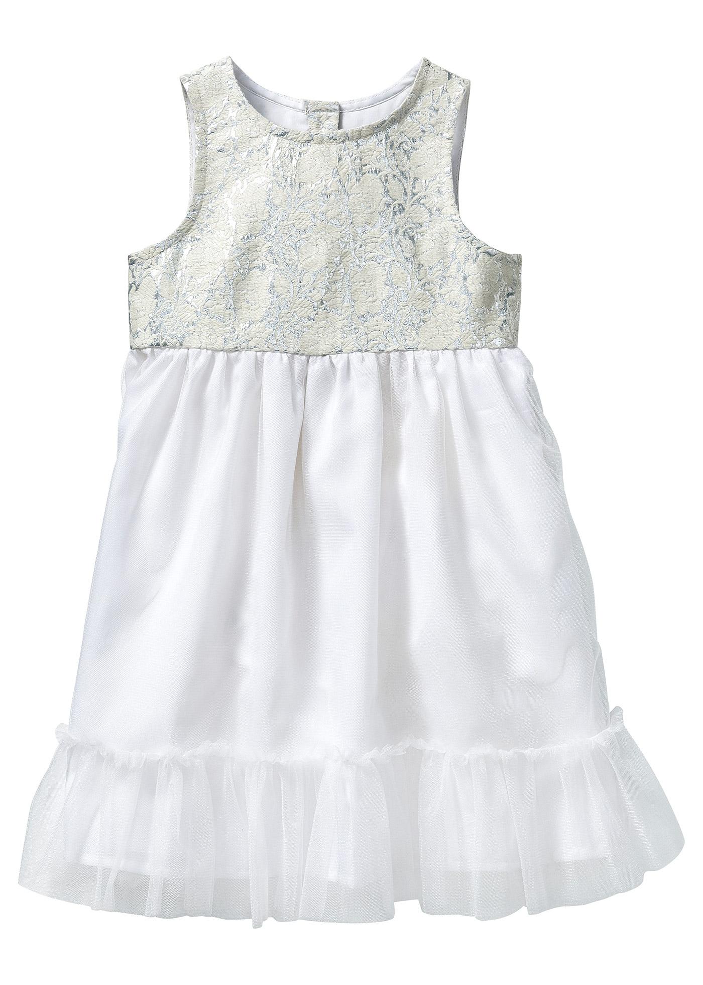 Rainbow bpc bonprix collection Kleid mit Tuell, Gr. 80-134 ohne Ärmel  in weiß von bonprix