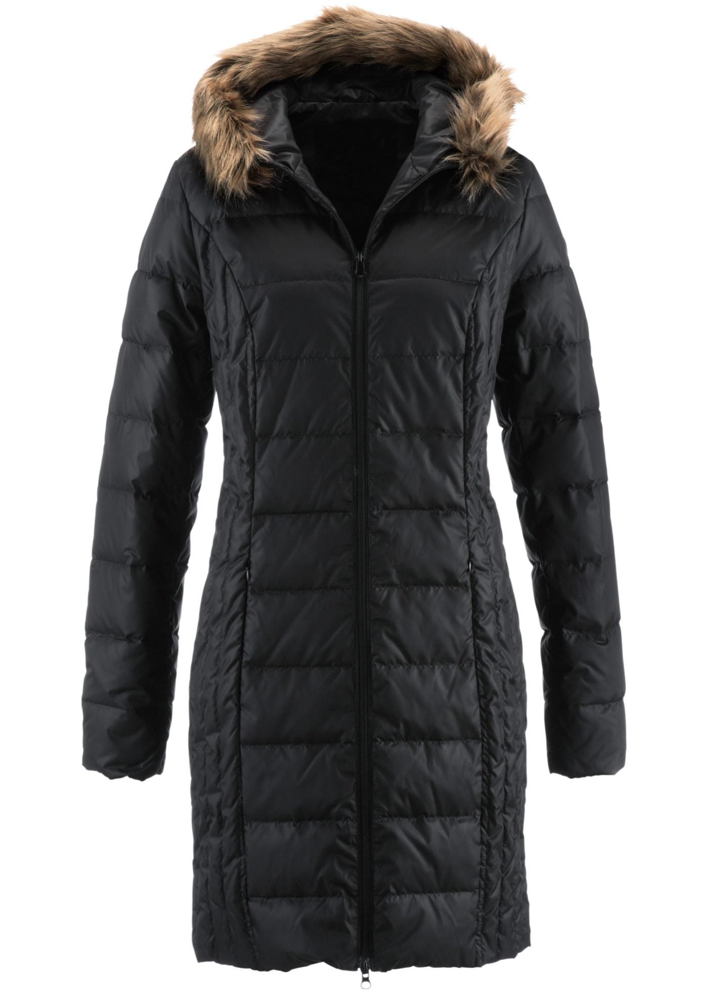 bpc bonprix collection Daunen-Steppmantel langarm  in schwarz für Damen von bonprix