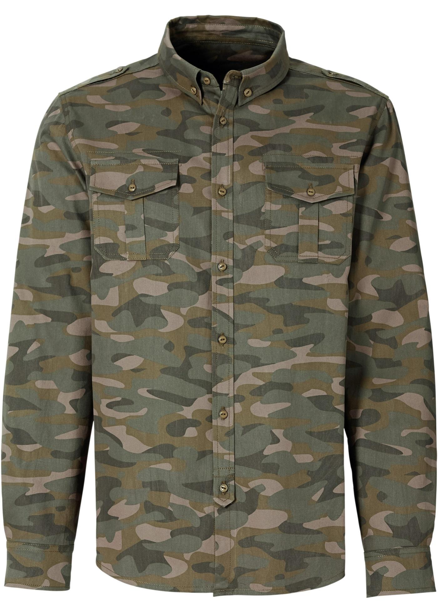 RAINBOW Langarmhemd in grün für Herren von bonprix Herrenmode Herrenbekleidung Herren Hemden Herren Hemd Langarm