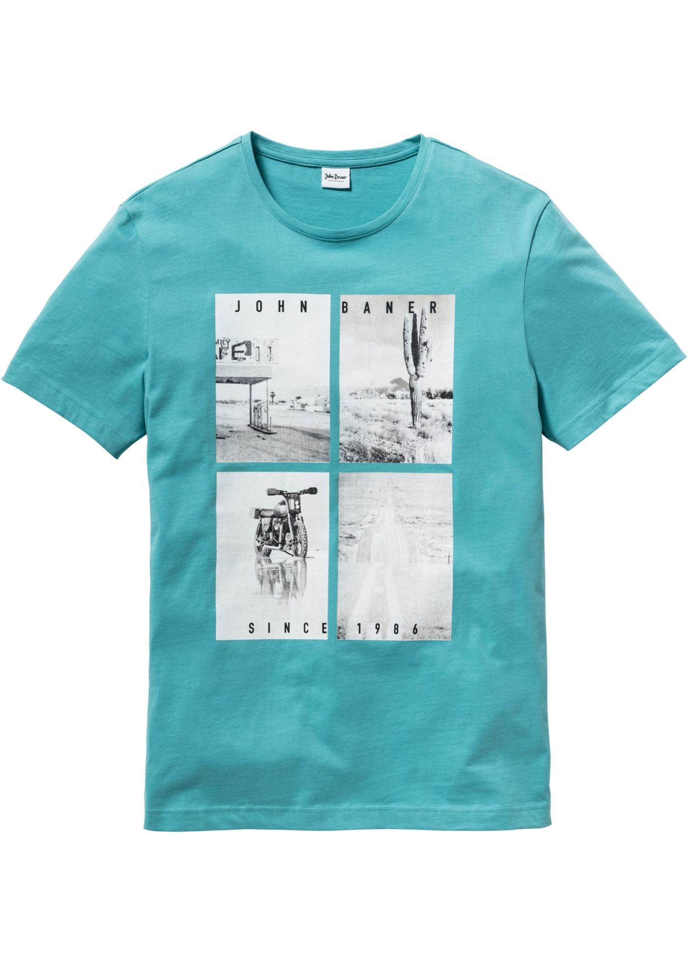T-Shirt mit Fotodruck Regular Fit