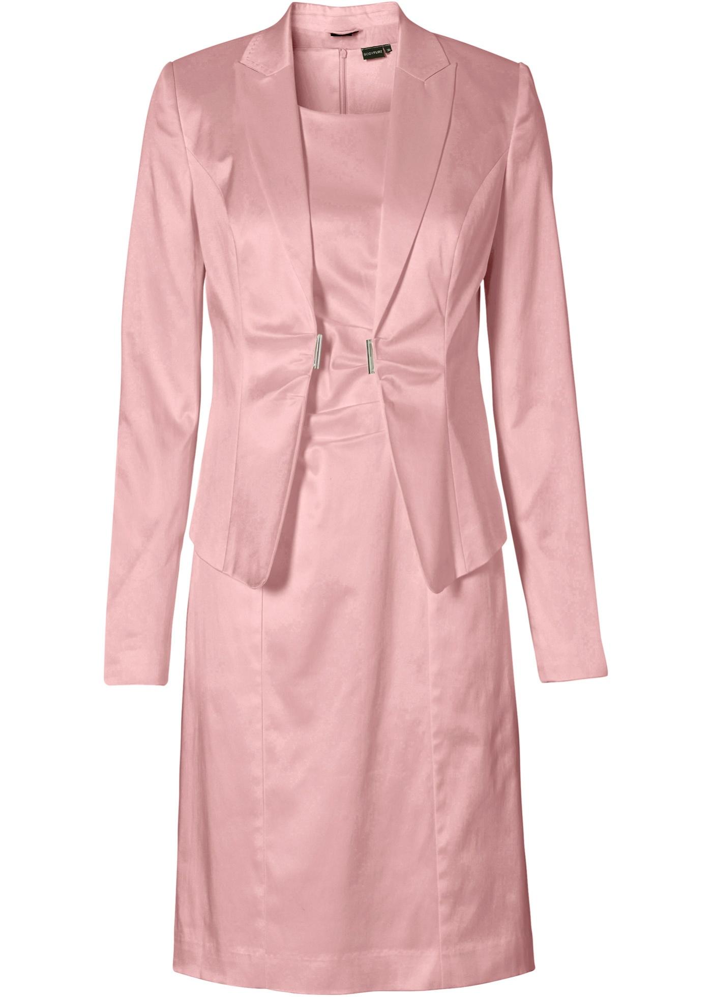 Kostüm Blazer + Kleid 2-tlg. Set in rosa für Damen von bonprix Damenmode > Damenbekleidung > Damenblazer