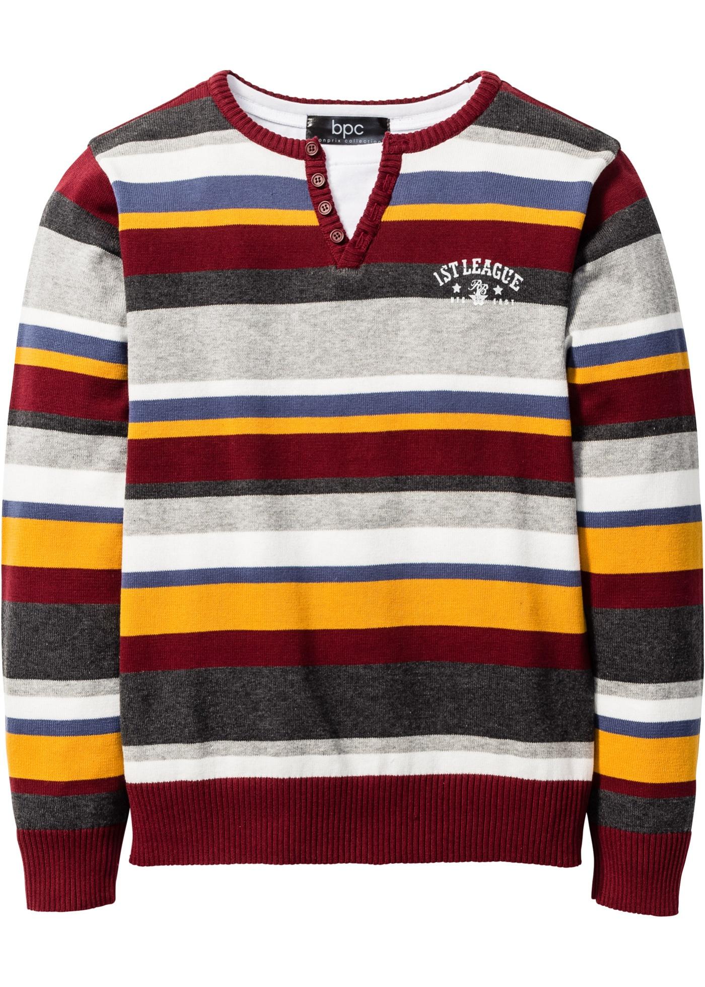 Rainbow bpc bonprix collection Pullover langarm  in rot für Jungen von bonprix