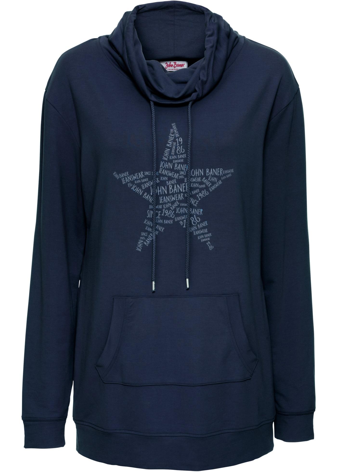 Sweatshirt mit großem Kragen jetztbilligerkaufen