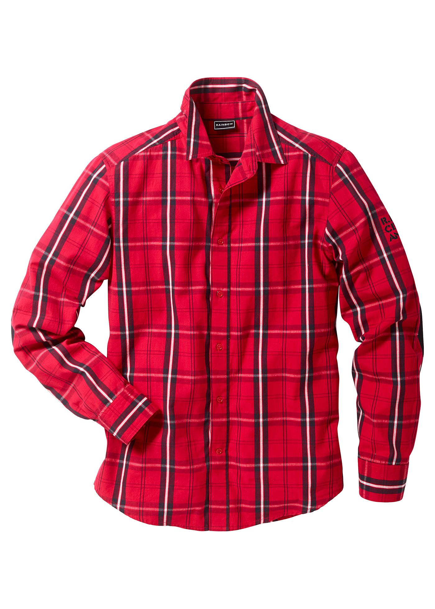 RAINBOW Langarmhemd in rot für Herren von bonprix Herrenmode Herrenbekleidung Herren Hemden Herren Hemd Langarm