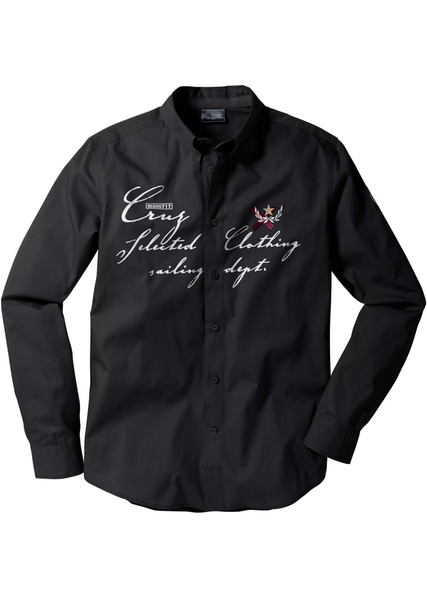bpc selection Hemd langarm in schwarz für Herren von bonprix Herrenmode Herrenbekleidung Herren Hemden Herren Hemd Langarm