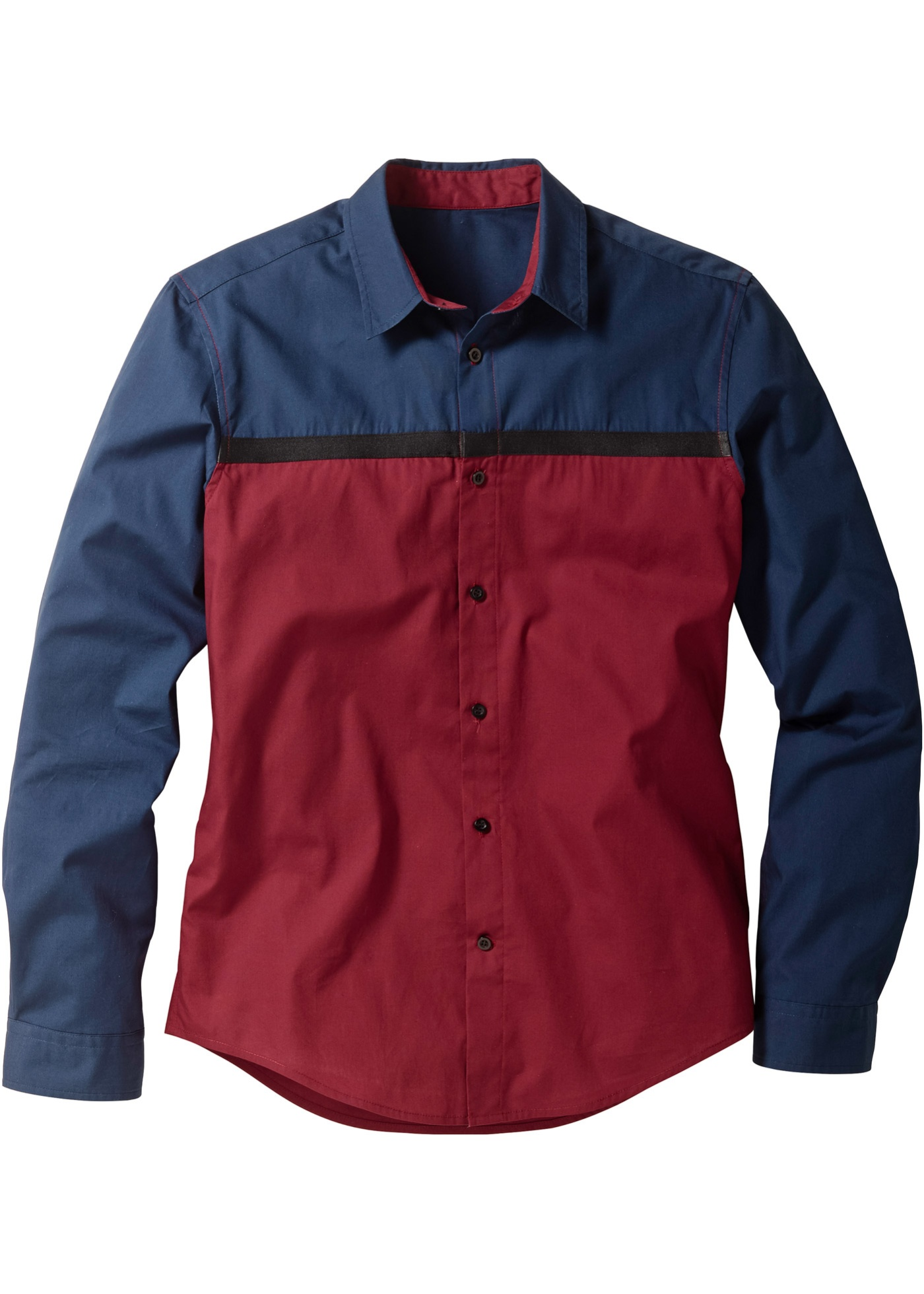bpc selection Langarmhemd in blau für Herren von bonprix Herrenmode Herrenbekleidung Herren Hemden Herren Hemd Langarm