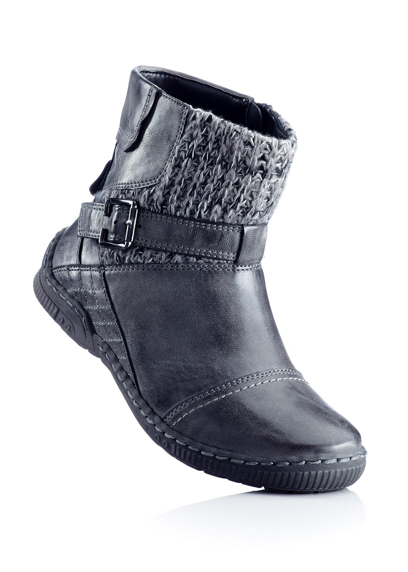 Stiefelette in grau von bonprix Schuhe und Accessoires > Damenschuhe > Bequemschuhe