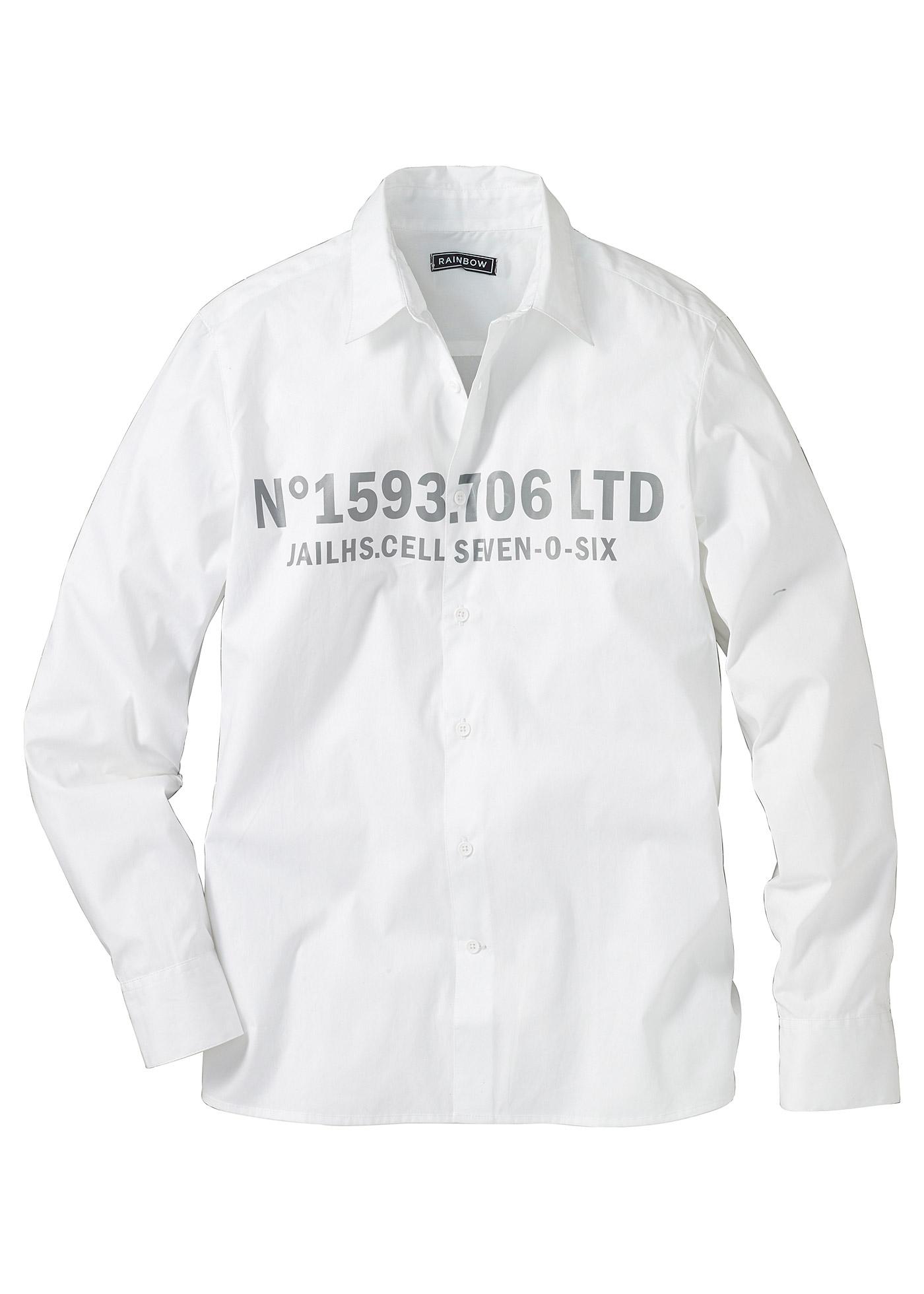 RAINBOW Langarmhemd in weiß für Herren von bonprix Herrenmode Herrenbekleidung Herren Hemden Herren Hemd Langarm