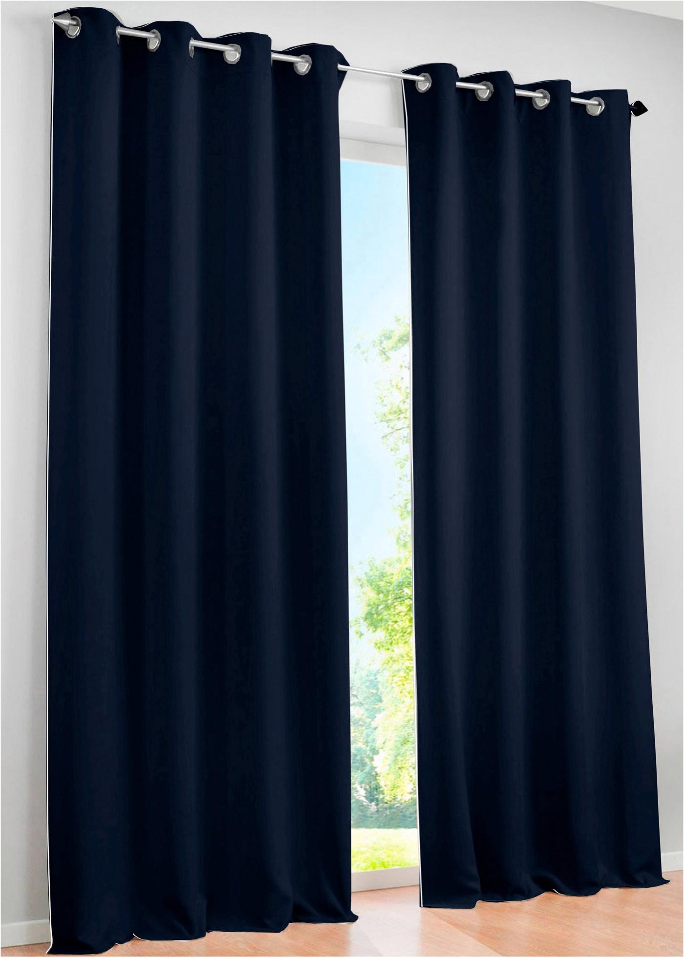Gardinen mit oesen verdunkelung preisvergleiche for Verdunkelungsvorhang blau
