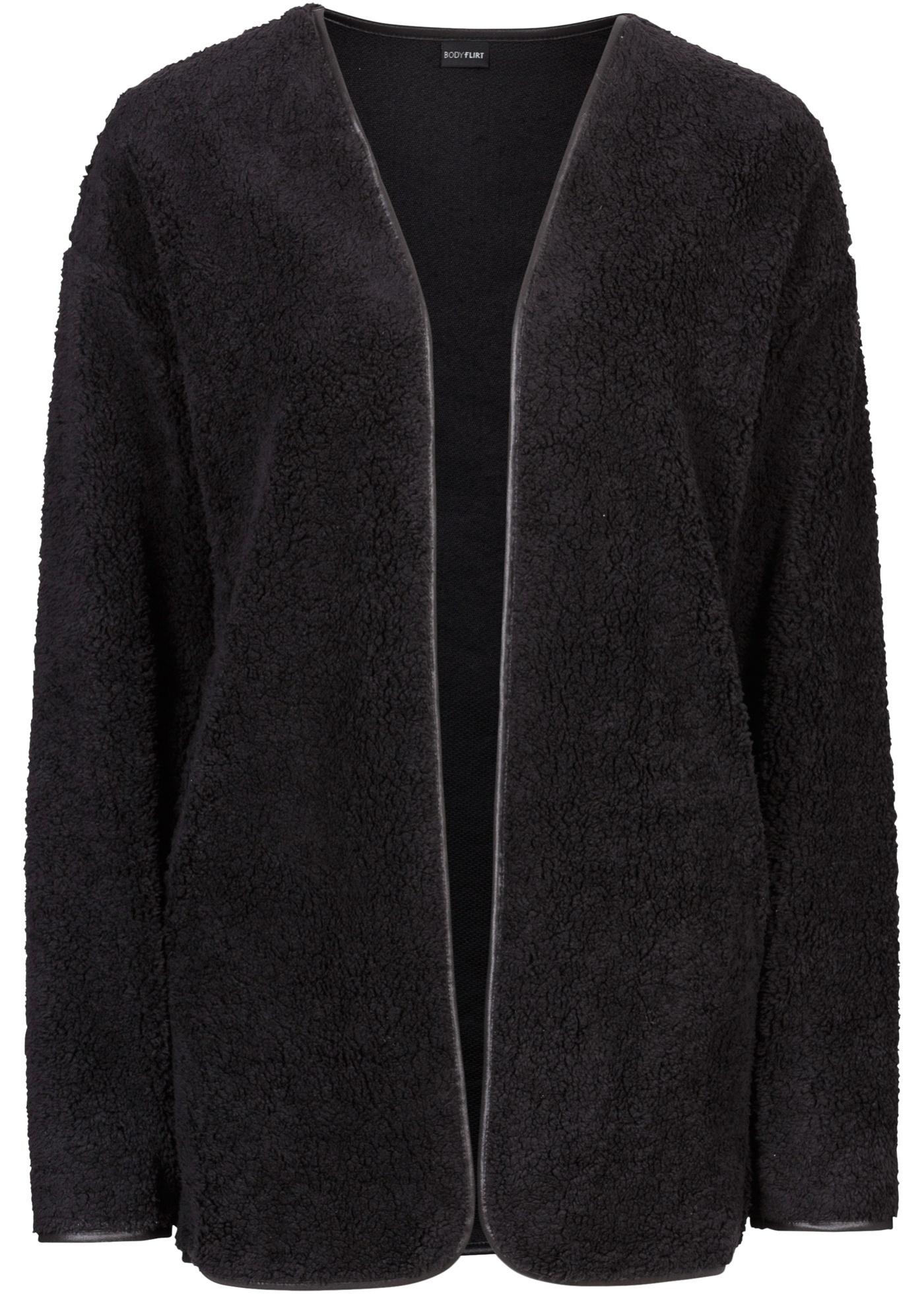 Bodyflirt Minnie Mouse Teddyfell-Jacke langarm  in schwarz für Damen von bonprix