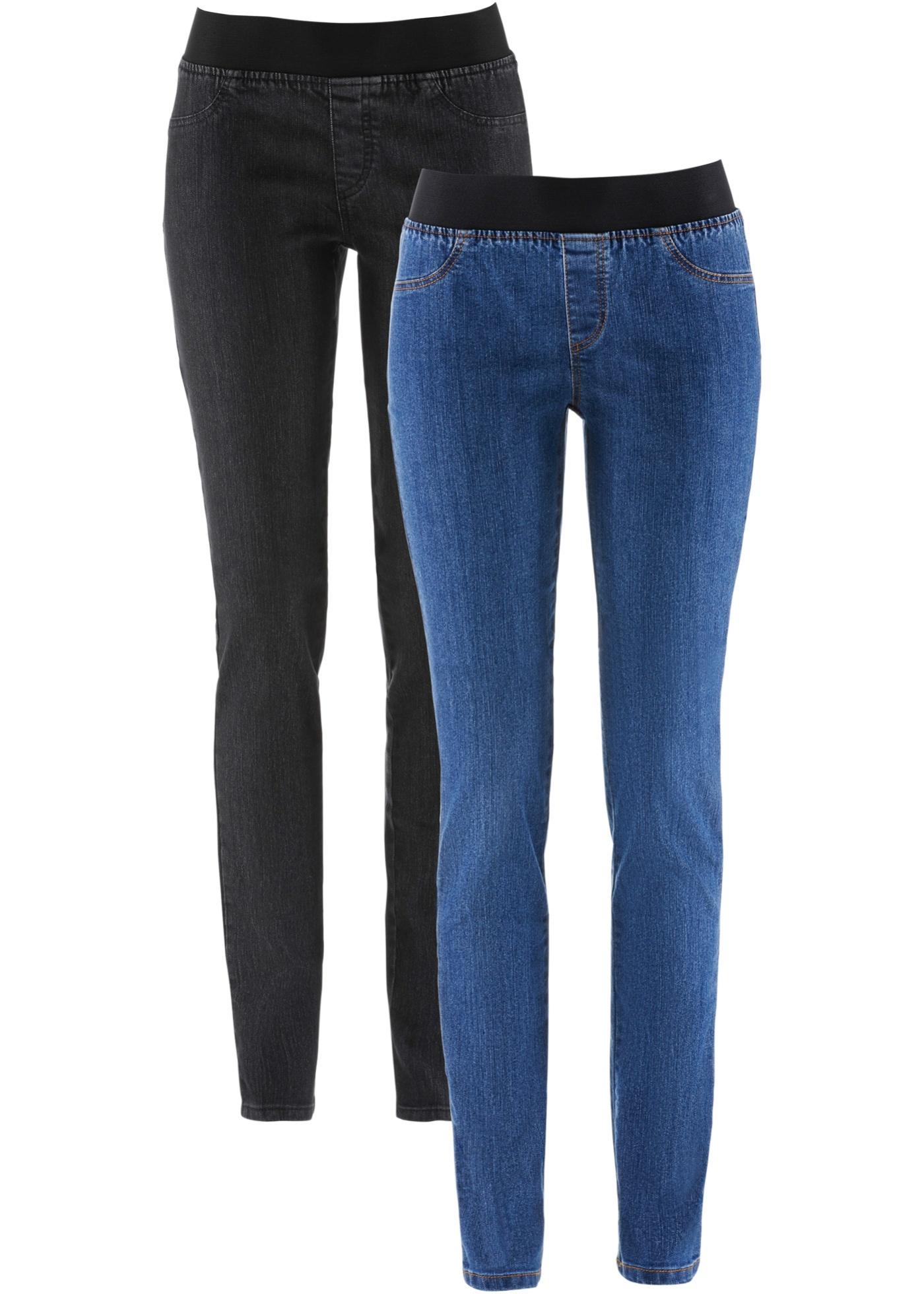 john baner jeanswear damen jeansleggings mit gummizug 2er pack in. Black Bedroom Furniture Sets. Home Design Ideas