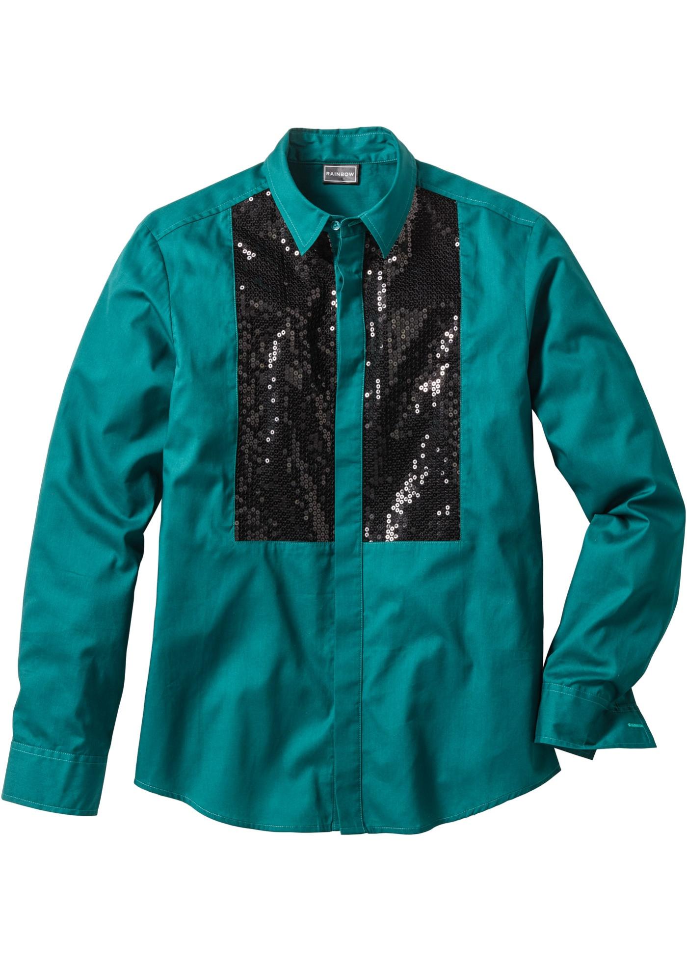 RAINBOW Langarmhemd in petrol für Herren von bonprix Herrenmode Herrenbekleidung Herren Hemden Herren Hemd Langarm