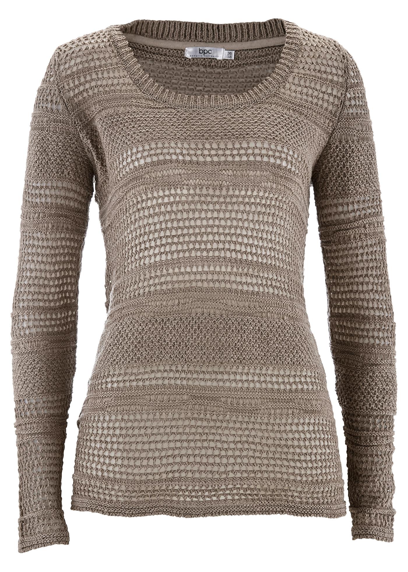 bpc bonprix collection Pullover, Langarm in braun für Damen von bonprix Damenmode > Damenbekleidung > Damenpullover > Damen Pullover Rundhals