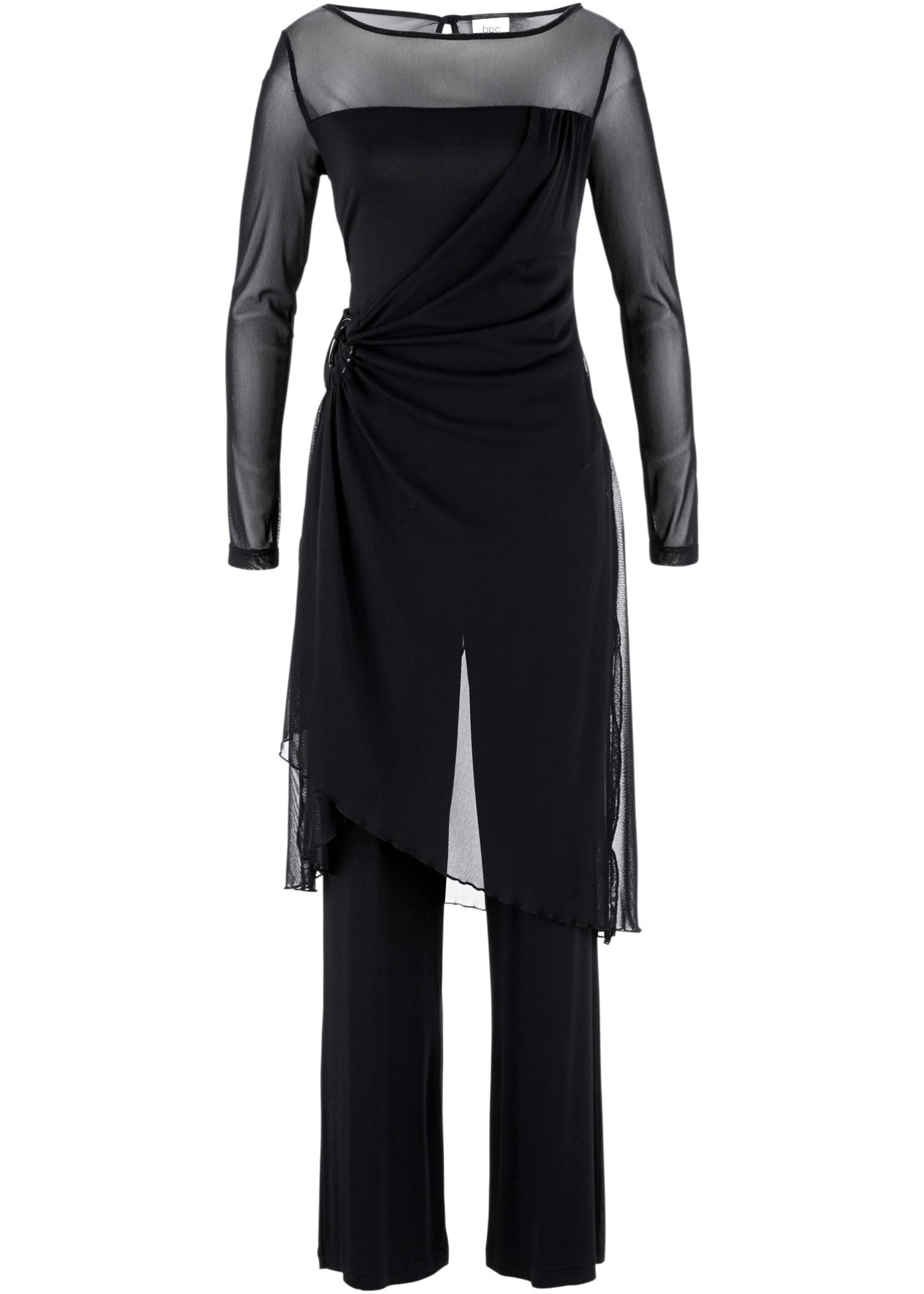 bpc bonprix collection Abend-Hosenanzug (2-tlg. Set) langarm  in schwarz für Damen von bonprix