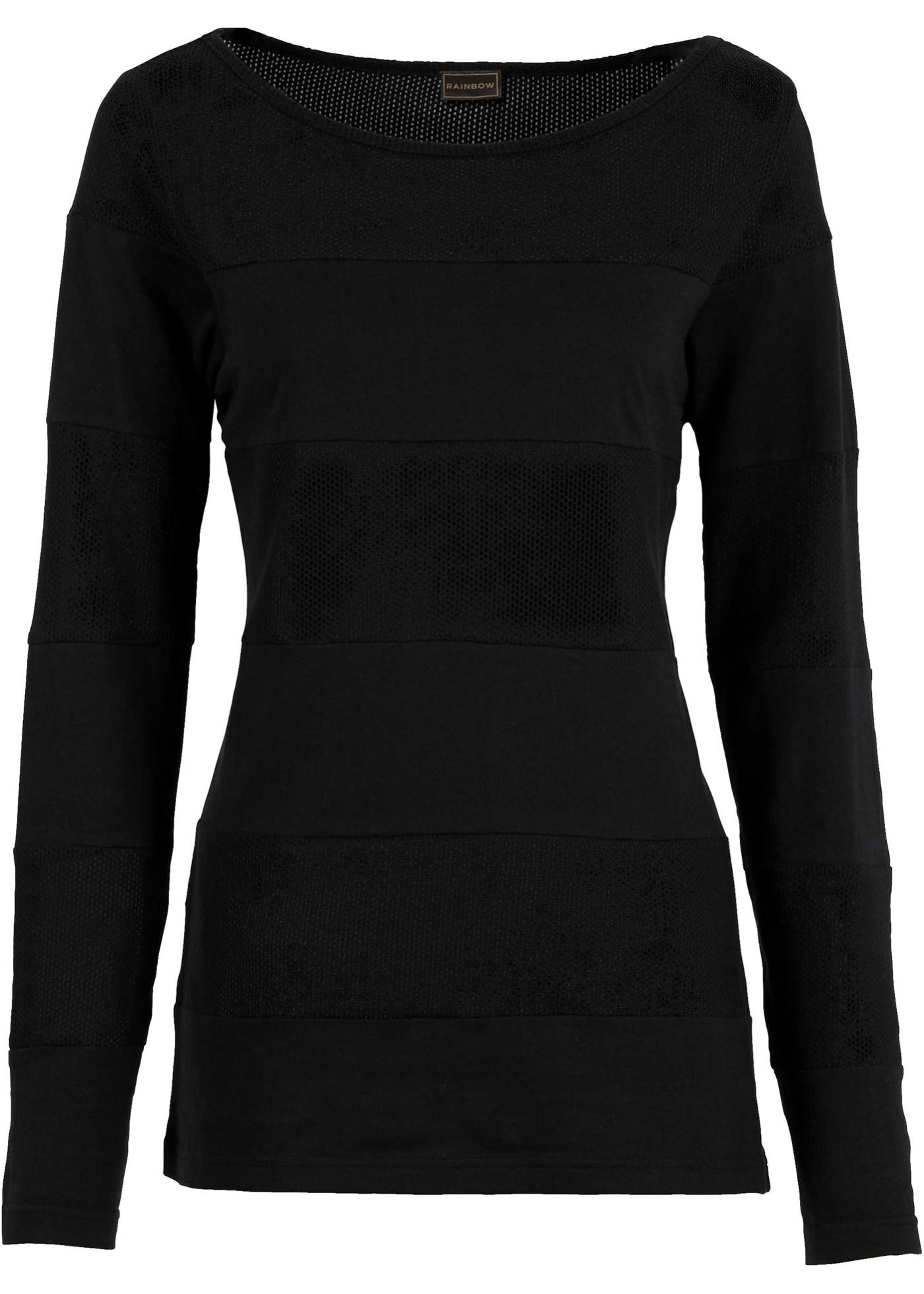 Shirt in schwarz für Damen von bonprix Damenmode > Damenbekleidung > Damen T-Shirts > Langarmshirts Rundhals