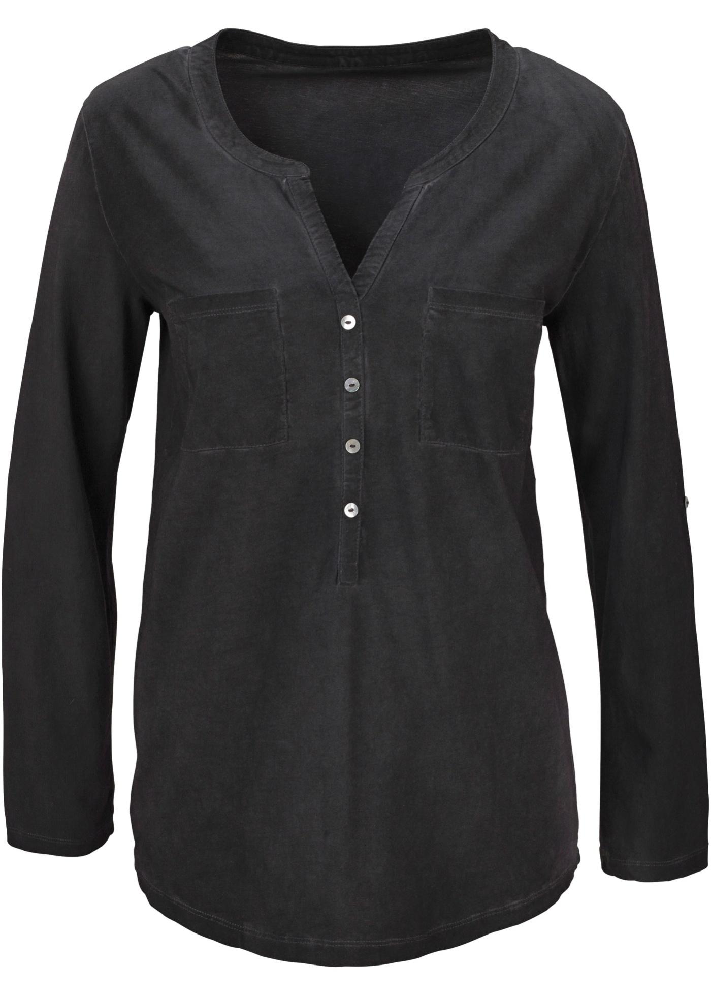 Rainbow Shirt 7/8 Arm  in grau (V-Ausschnitt) für Damen von bonprix