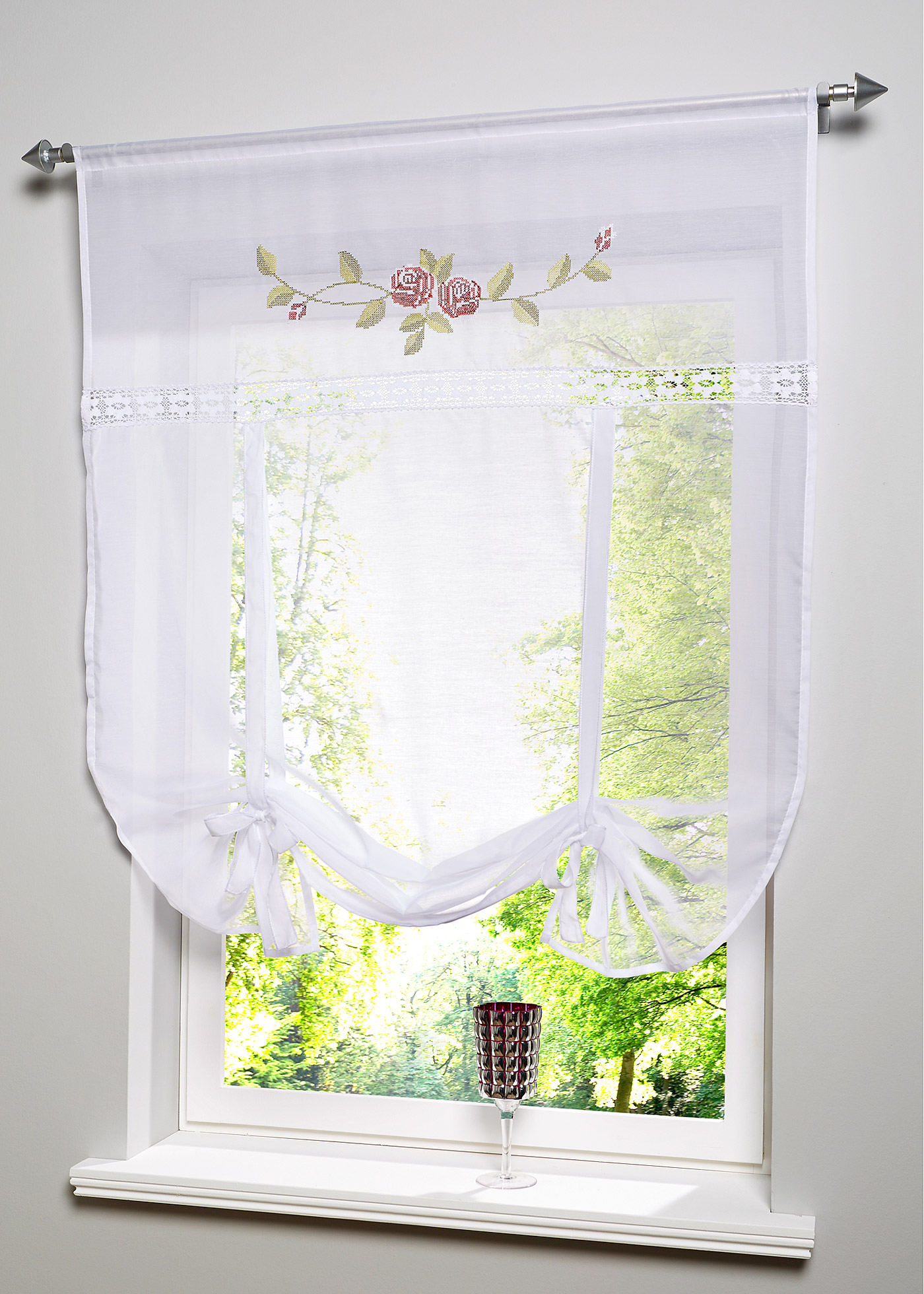 gardinen mit rosen sonstige preisvergleiche erfahrungsberichte und kauf bei nextag. Black Bedroom Furniture Sets. Home Design Ideas