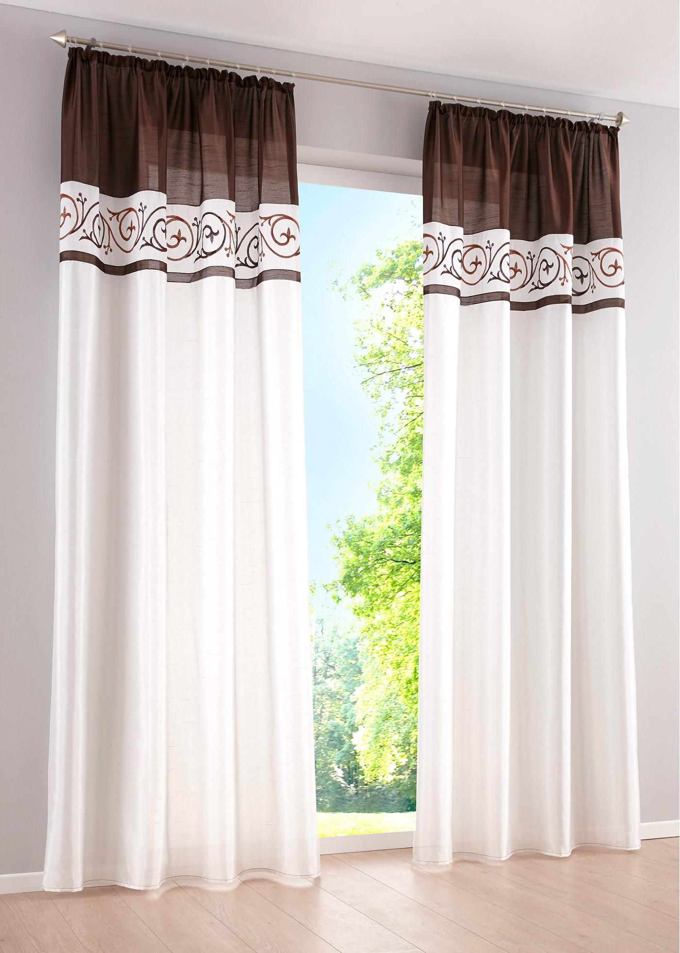 gardinen mit stickerei preisvergleiche erfahrungsberichte und kauf bei nextag. Black Bedroom Furniture Sets. Home Design Ideas