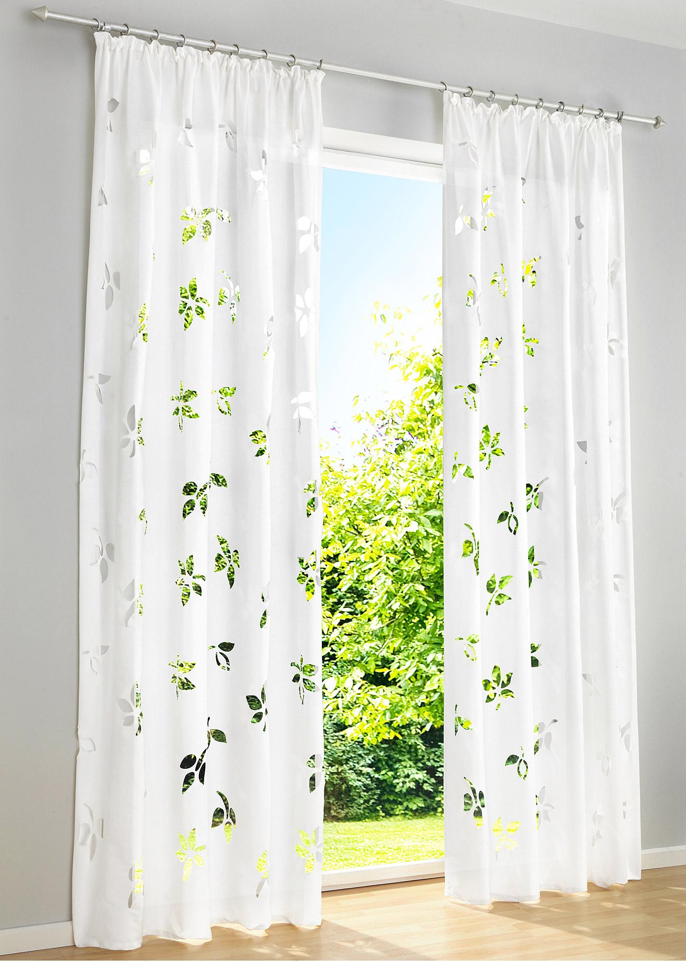 vorhang mariel 1er pack kr uselband in wei von bonprix. Black Bedroom Furniture Sets. Home Design Ideas