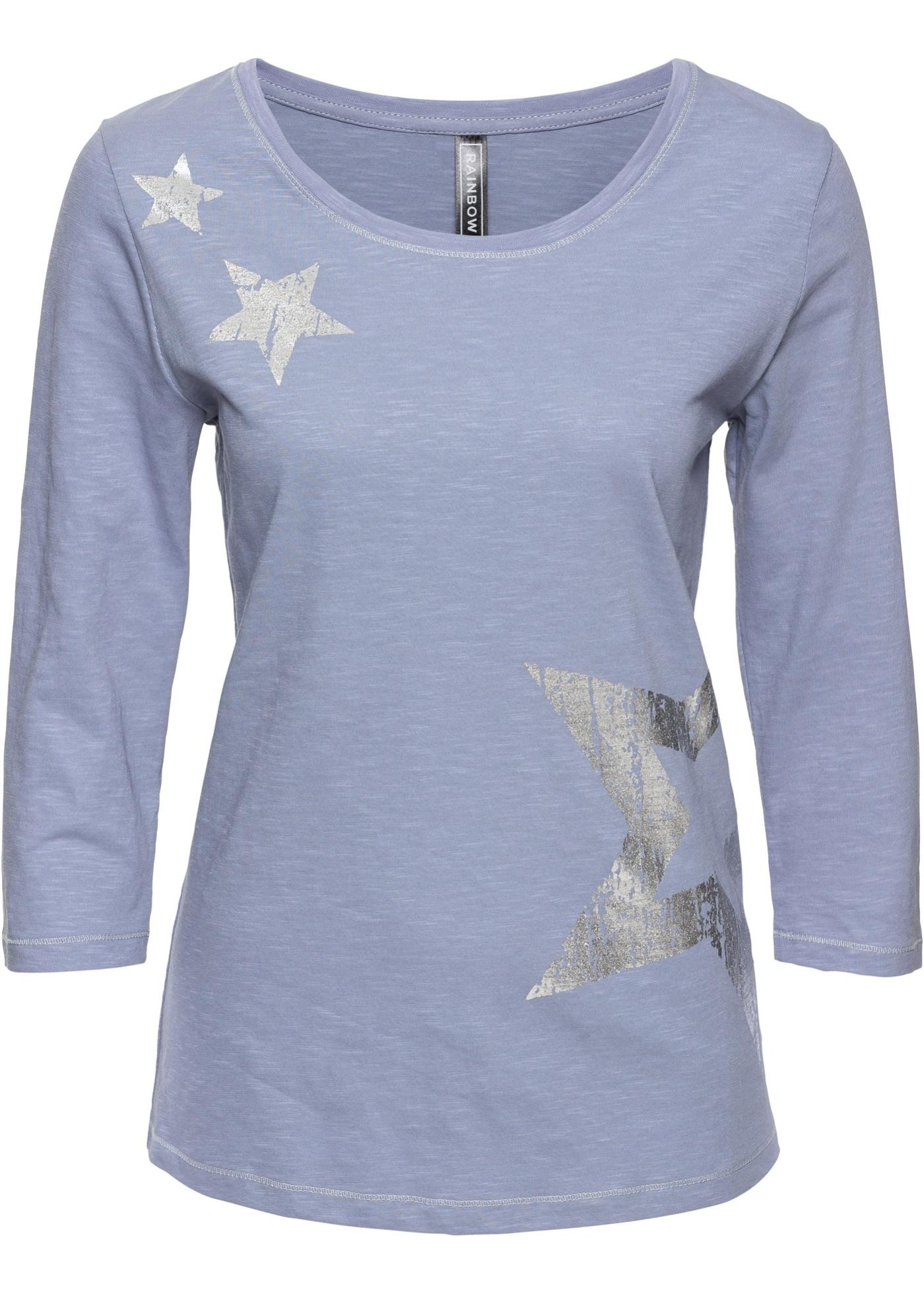 Shirt mit Glanz-Druck
