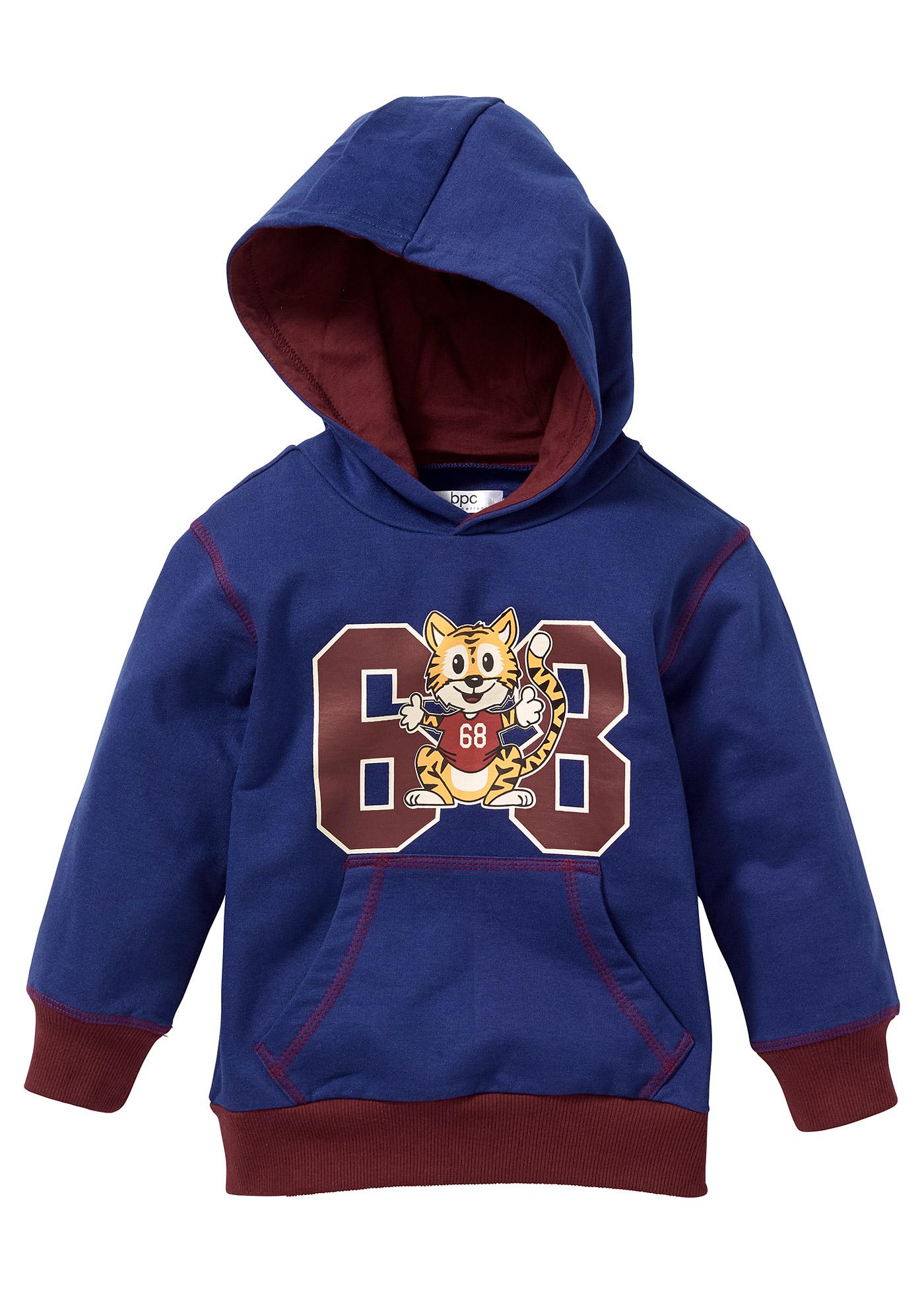 bpc bonprix collection Sweatshirt mit Kapuze, Gr. 80/86-128/134 langarm  in blau für Jungen von bonprix