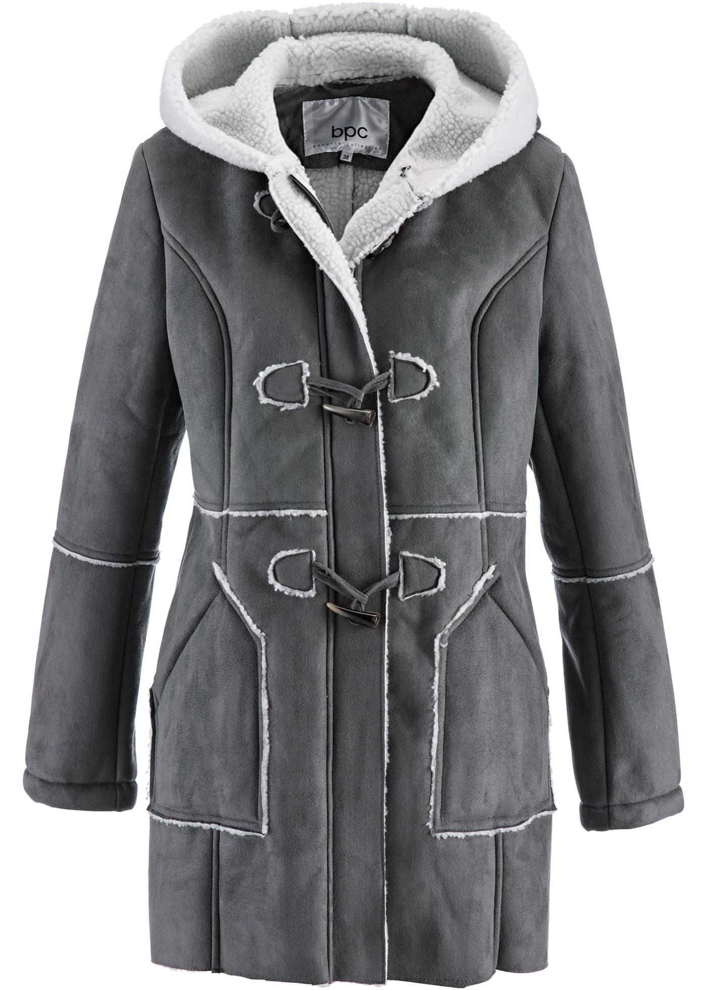 bpc bonprix collection Duffle-Coat langarm  in grau für Damen von bonprix